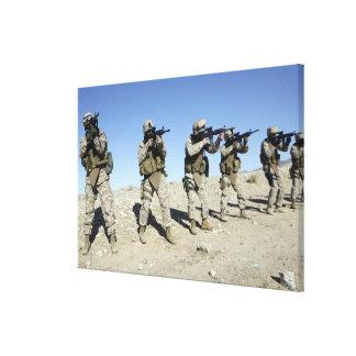 Miembros de equipo militares de Transistion Impresión En Lienzo