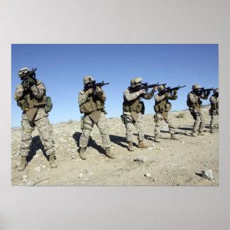 Miembros de equipo militares de Transistion Póster