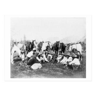 Miembros de la demostración del oeste salvaje del tarjetas postales