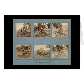 Miembros de la milicia 1861 del Estado de Nuevo Tarjeta De Felicitación