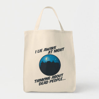 Miento despierto en la noche bolsa tela para la compra
