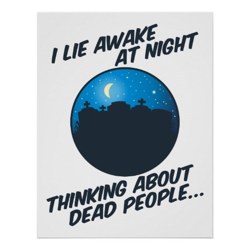 Miento despierto en la noche poster