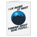 Miento despierto en la noche tarjetas