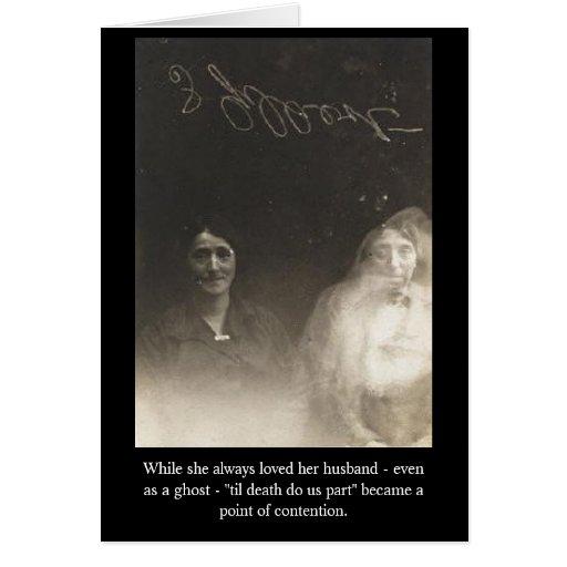 Mientras que ella amó siempre a su marido - vísper tarjeta de felicitación
