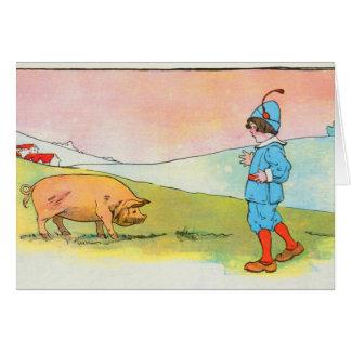 Mientras que fui a Bonner, resolví un cerdo Felicitación
