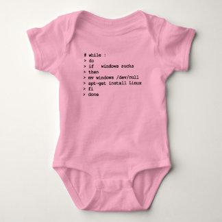 mientras que: haga (ropa) body para bebé