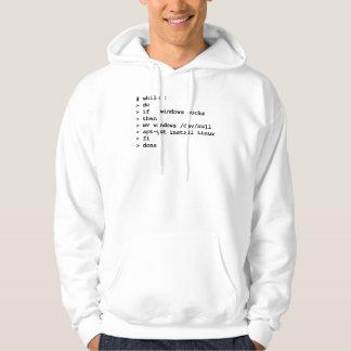 mientras que: haga (ropa) suéter con capucha