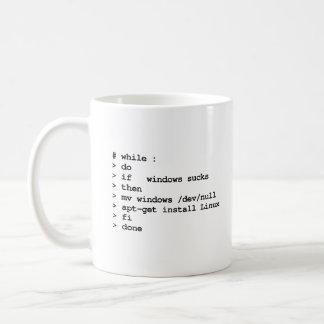 mientras que: haga taza clásica