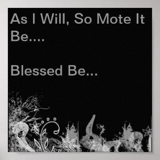 Mientras que, mota de polvo esté tan….Bendecido se Póster