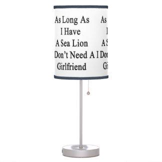 Mientras tenga un león marino yo no necesite un