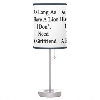 Mientras tenga un león yo no necesite a una novia
