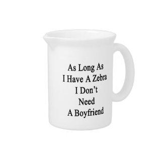 Mientras tenga una cebra yo no necesite a un novio jarras de beber