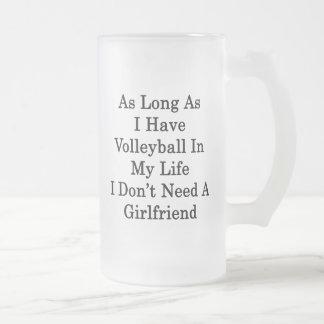 Mientras tenga voleibol en mi vida yo no hace el taza cristal mate
