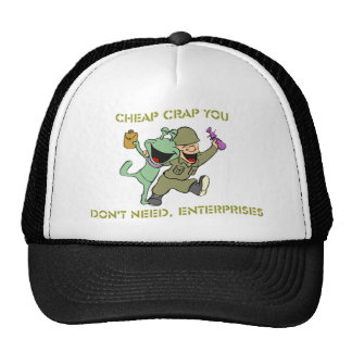 Mierda barata que usted no necesita, mercancía de  gorra
