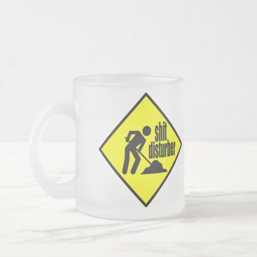 Mierda Disturber - señal de peligro amarilla diver Taza De Café