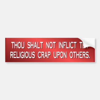 mierda religiosa etiqueta de parachoque