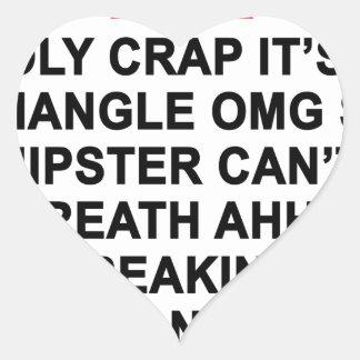 Mierda santa es un triángulo T-Shirt.png Pegatina En Forma De Corazón