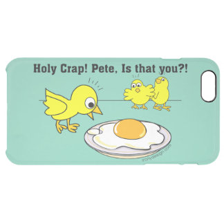 ¡Mierda santa! Humor de Pete Funda Clear Para iPhone 6 Plus