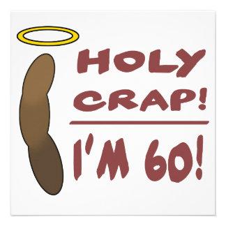 ¡Mierda santa soy 60 Invitaciones Personales