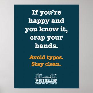 Mierda sus manos póster
