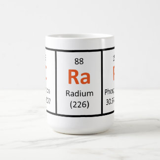 Mierda - taza de la tabla periódica