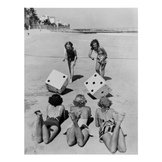 Mierdas en la arena los años 40 impresiones