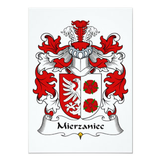 Mierzaniec Family Crest Card