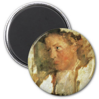 Miesbacher Farmer By Leibl Wilhelm (Best Quality) Magnets