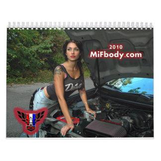 MiFbody.com 2010 Calendario