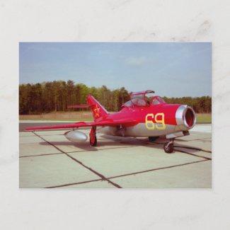Mig-17 Trainer Postcard postcard