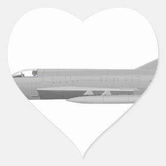MiG 21MF Fishbed J Pegatina En Forma De Corazón