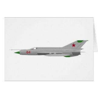 MiG 21MF Fishbed J Tarjeta De Felicitación