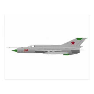 MiG 21MF Fishbed J Tarjeta Postal