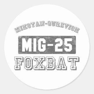 MIG-25 Foxbat Etiqueta Redonda