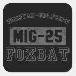 MIG-25 Foxbat Pegatinas Cuadradases Personalizadas