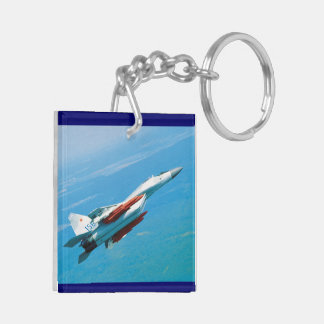 mig-29 acrylic keychain