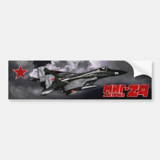 MiG-29 Car Bumper Sticker
