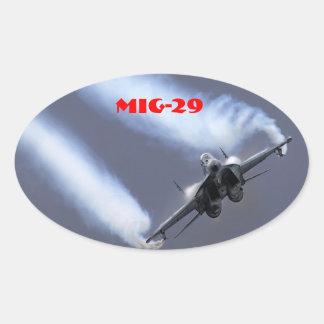 MIG-29 COLCOMANIAS DE ÓVAL PERSONALIZADAS