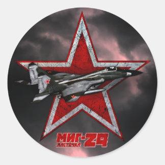 MiG-29 Pegatinas Redondas