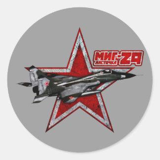 MiG-29 Etiqueta Redonda