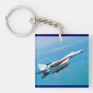 mig-29 square acrylic key chains