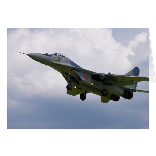 MiG-29 versión polaca 9.12A de la base en Malbork Felicitacion