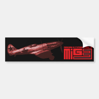 MiG-3 Car Bumper Sticker