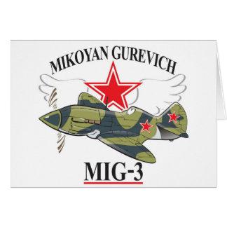 mig-3 mikoyan tarjetas