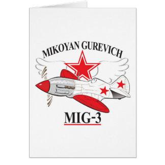 mig-3 mikoyan felicitacion