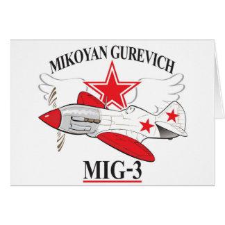 mig-3 mikoyan felicitación