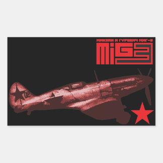 MiG-3 Rectangular Pegatina