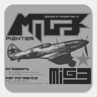 MiG-3 Calcomania Cuadradas Personalizadas