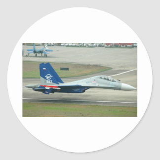 MIG FLY-BY ROUND STICKERS
