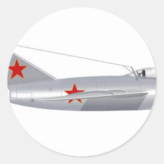 MIG Mig-15 Pegatina Redonda